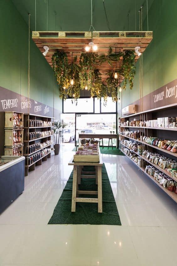 greenery in wooden ceilings