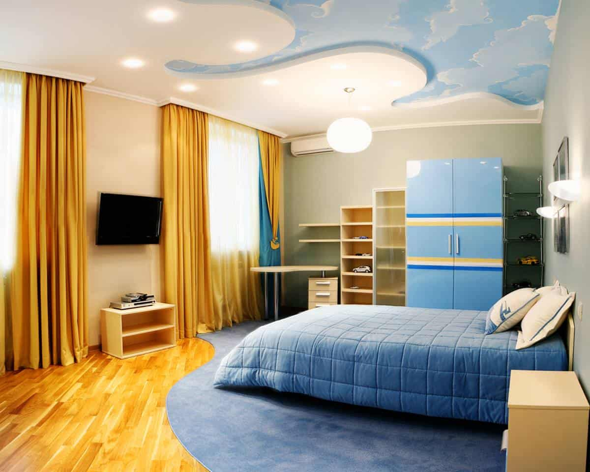 bedroom false ceiling colours
