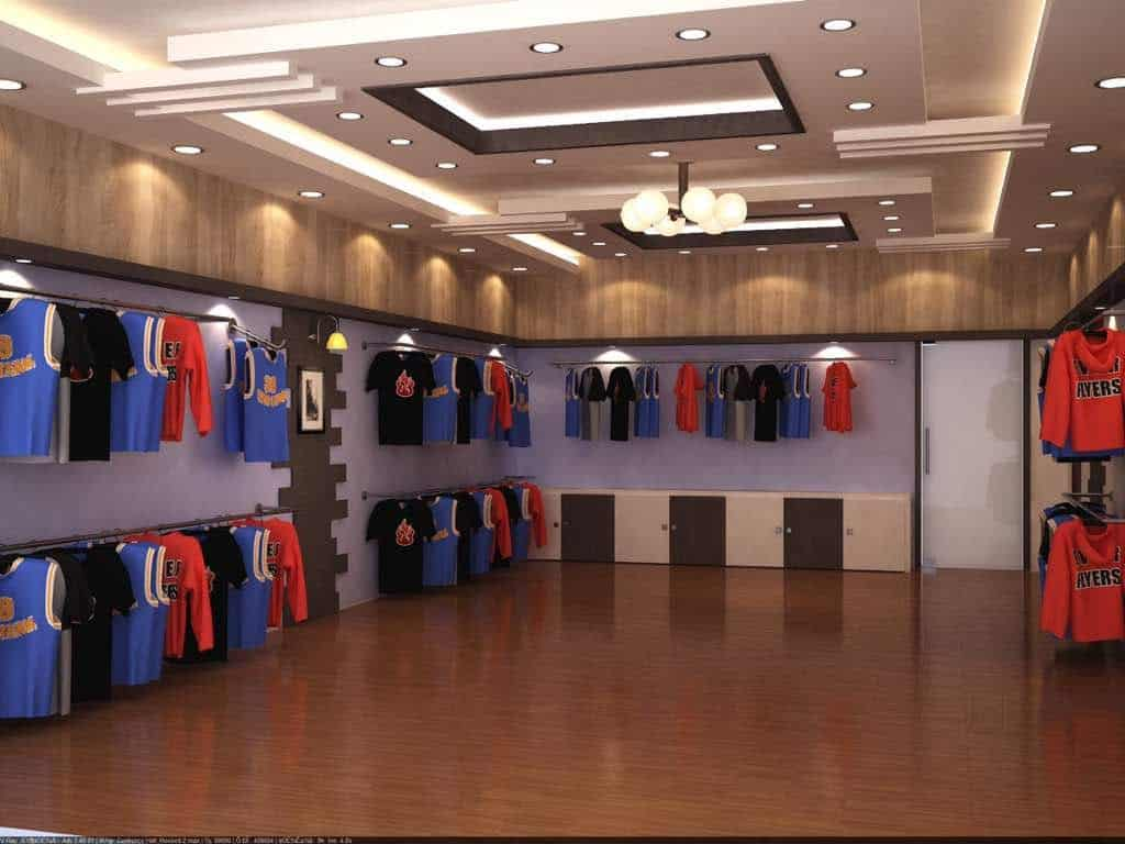 tray false ceiling designs for shops