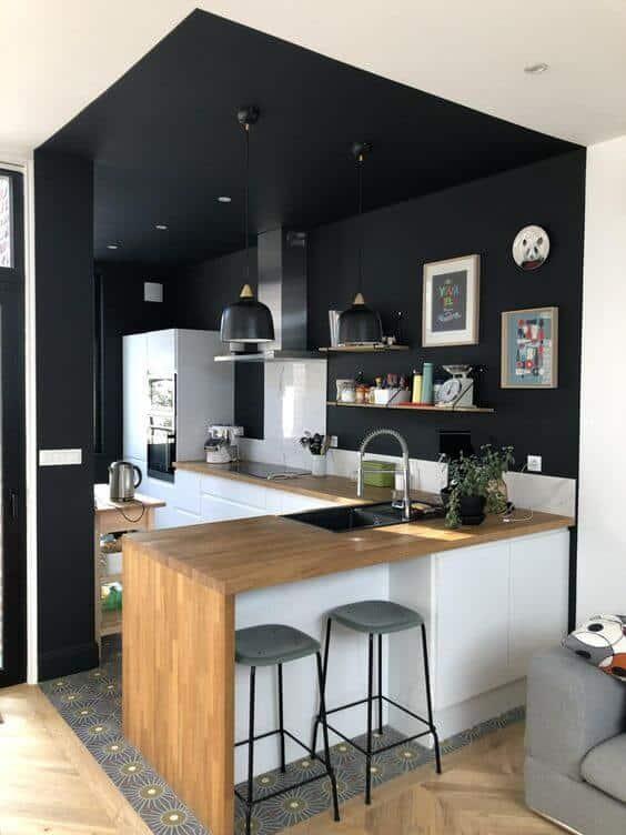 black simple false ceiling.