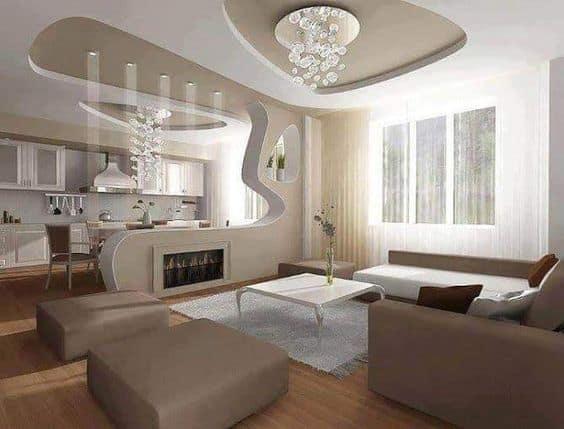 Unique ceiling shapes
