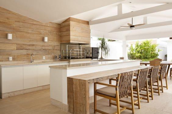 Bright modular kitchen false ceiling design