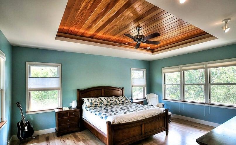 wooden false ceiling design simple