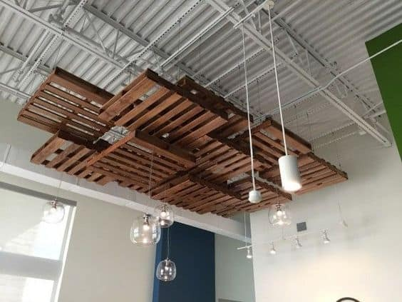 suspended wooden ceiling