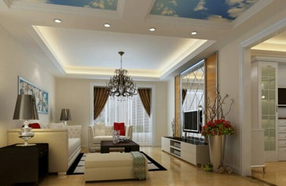 simple tray flase ceiling designs for hall
