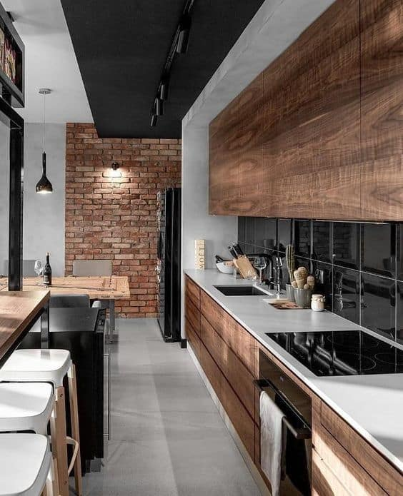 layered false ceiling design for kitchen