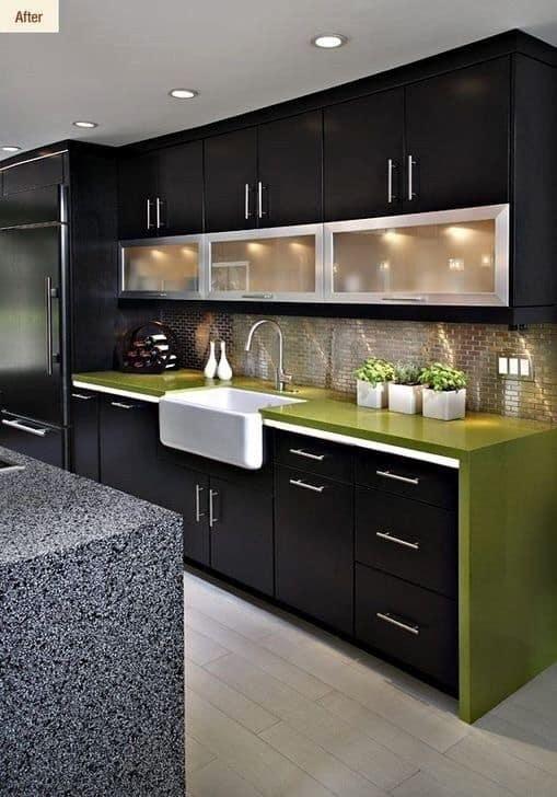 white and black kitchen design