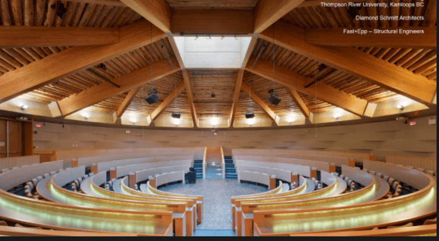 canadian wood timber architecture