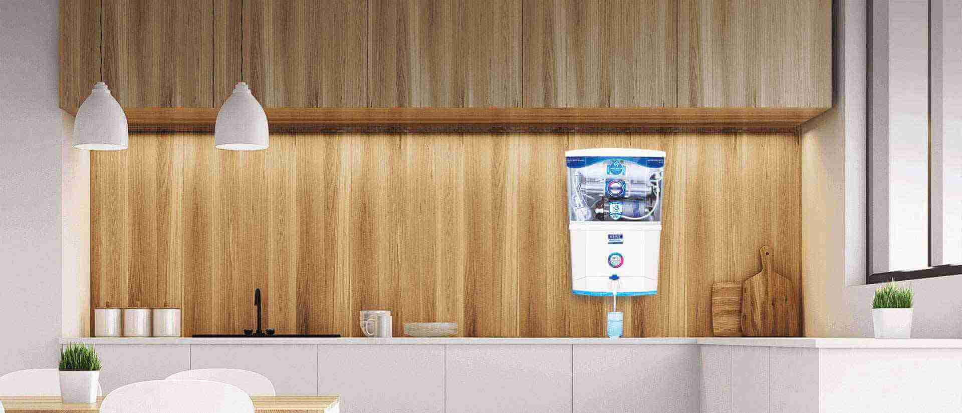modular kitchen with water purifier