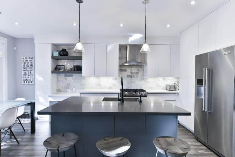 modular kitchens with false ceiling lights
