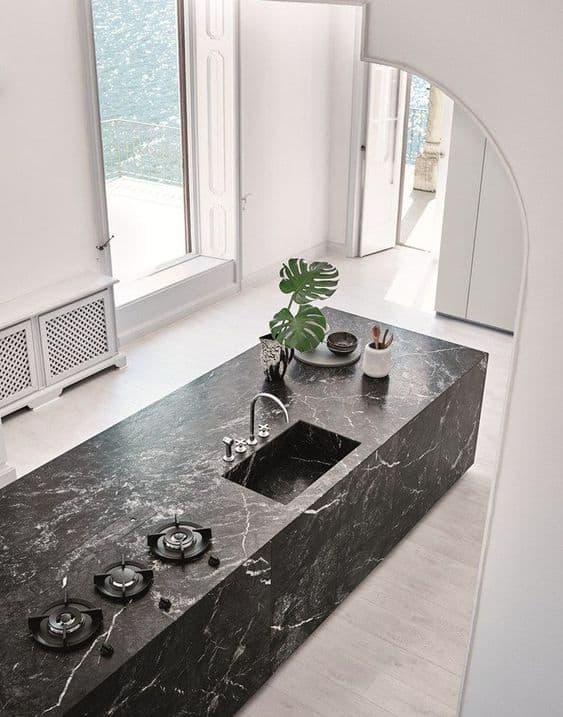 Granite modular cooking area