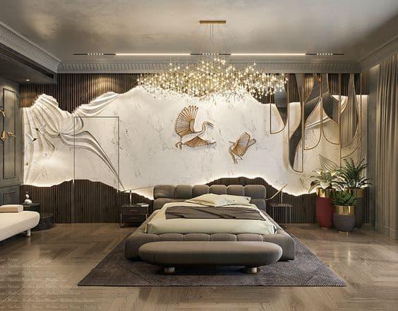bedroom ceiling chandeliers