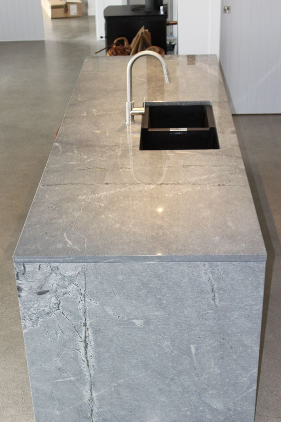 grey countertop designs for kitchen with a utility kitchen sink