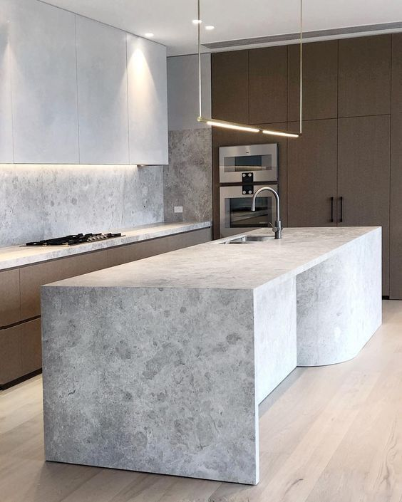 textured white countertop for a minimalist look