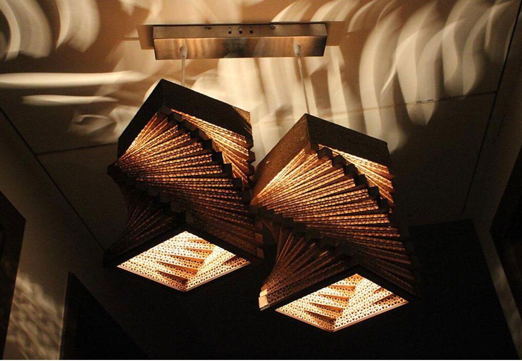 lamp with designer impressions