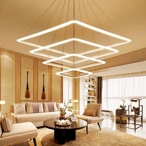 LED lights chandelier for living room