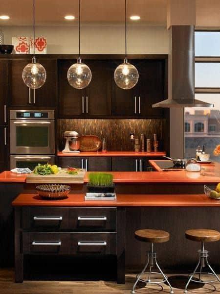 white countertop designs for kitchen with white interiors