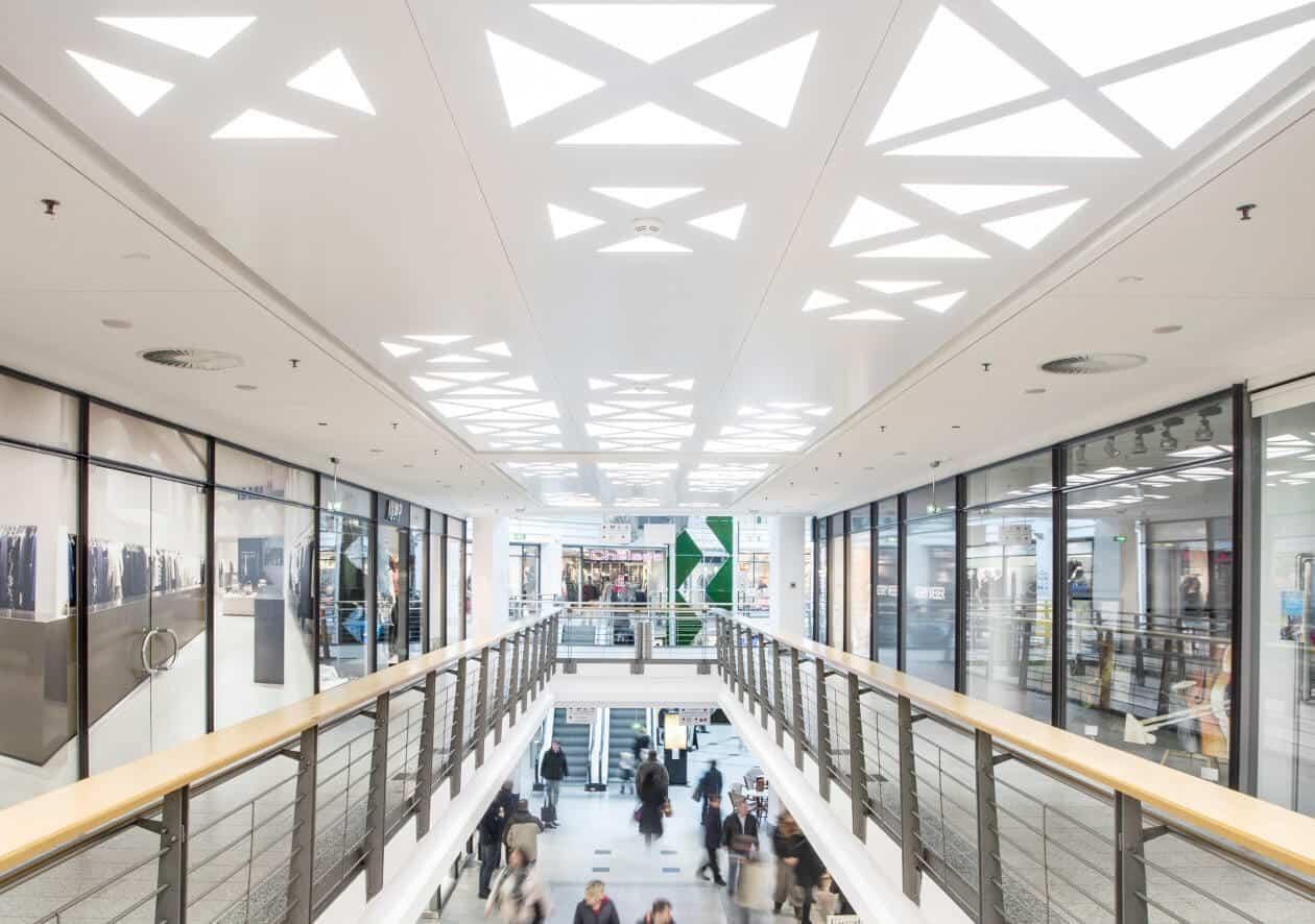 Commercial illumination design for malls