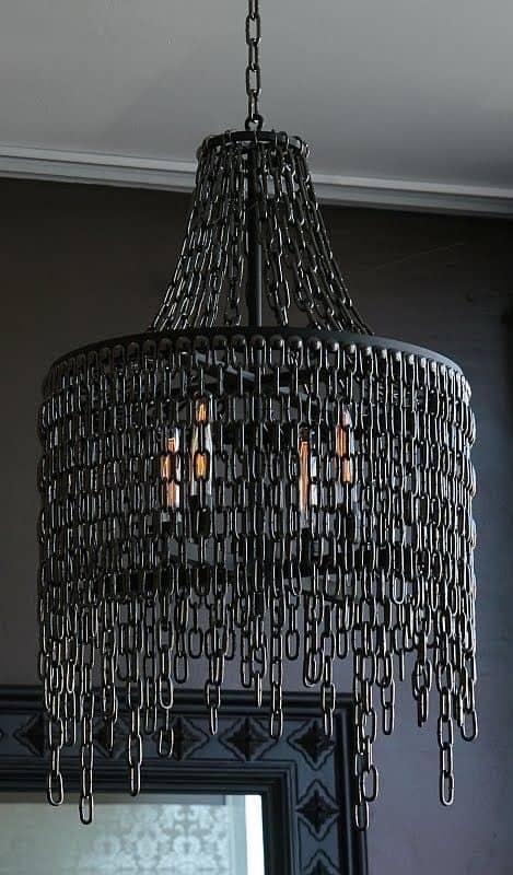 black chain chandelier for living room