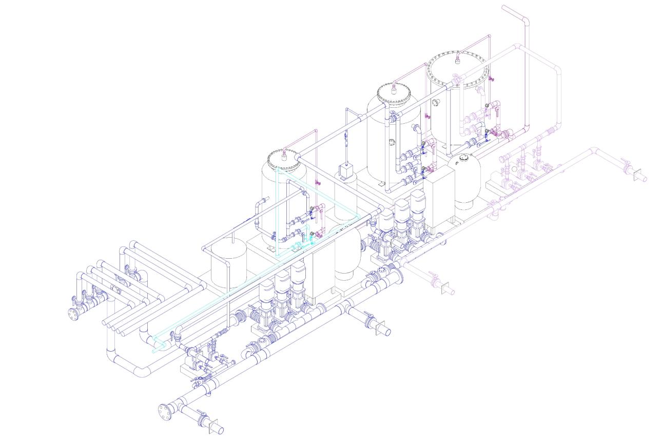 Plumbing system setup