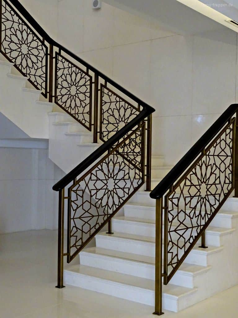 perforated parapet wall design for staircase