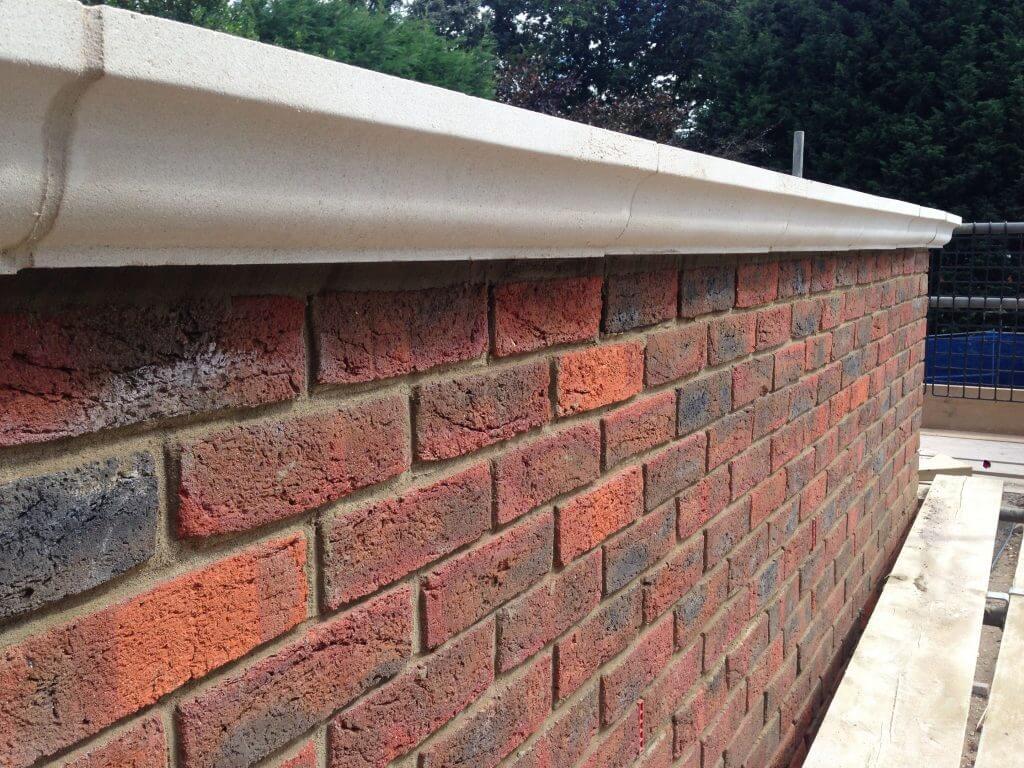 parapet brick wall