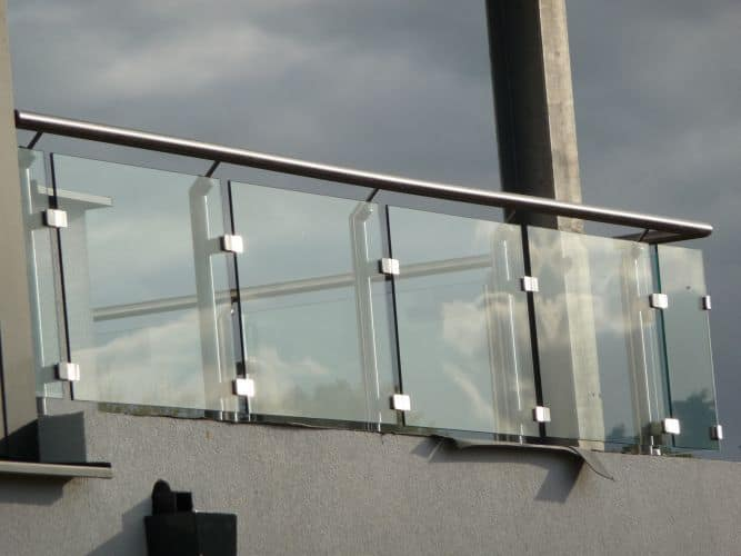 fiberglass wall for parapet with stainless steel frame