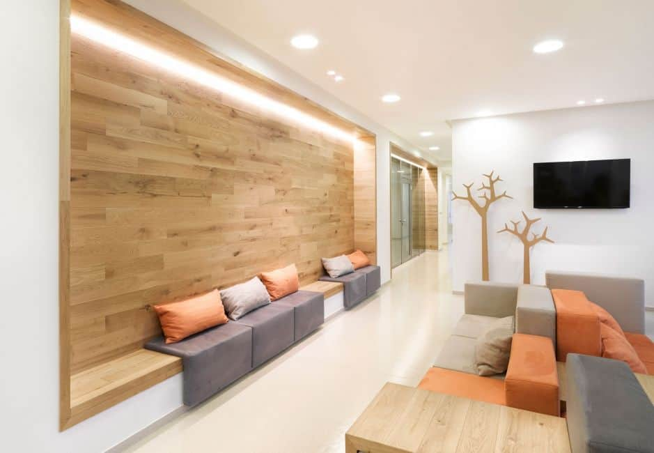 wood panel with lighting for wall design