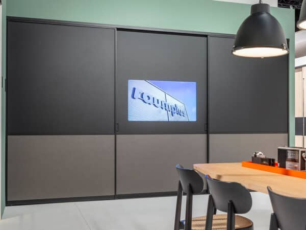 raumplus sliding closet doors with TV integration