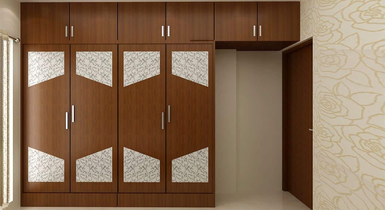 wood veneer wardrobe designs