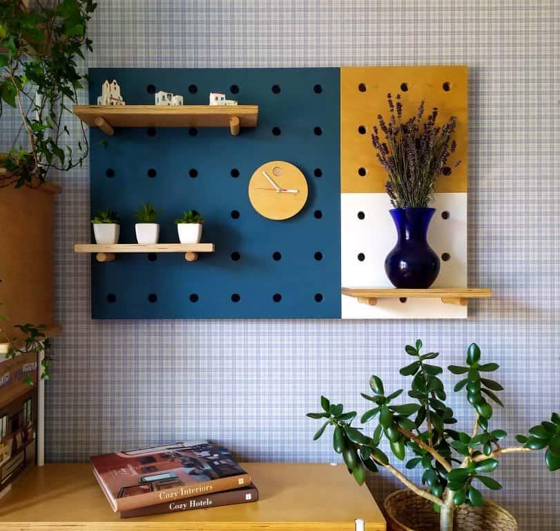 plywood pegboard shelf
