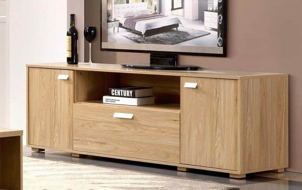 faux wood tv table