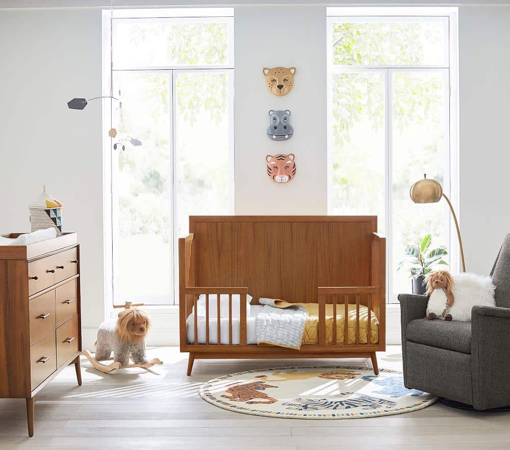 4-in-1 plywood cot convertible to a toddler bed