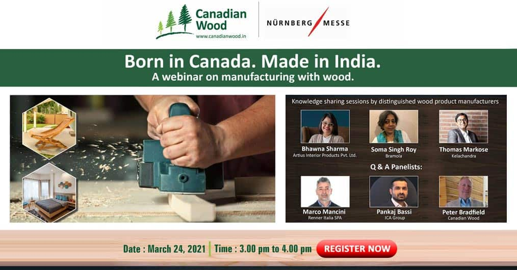 'Manufacturing With Wood' – Wooden interiors industry leaders team-up for this knowledge sharing webinar by Canadian Wood. Reserve your seat!