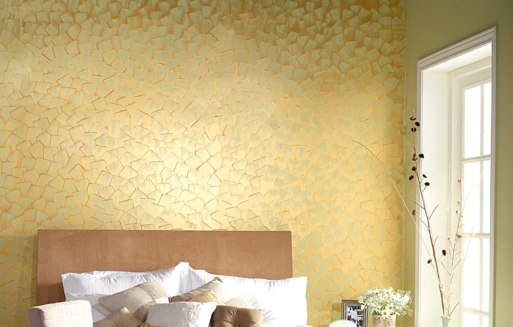 golden wall paint design texture