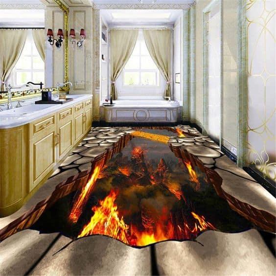 volcanic lava 3D wallpaper
