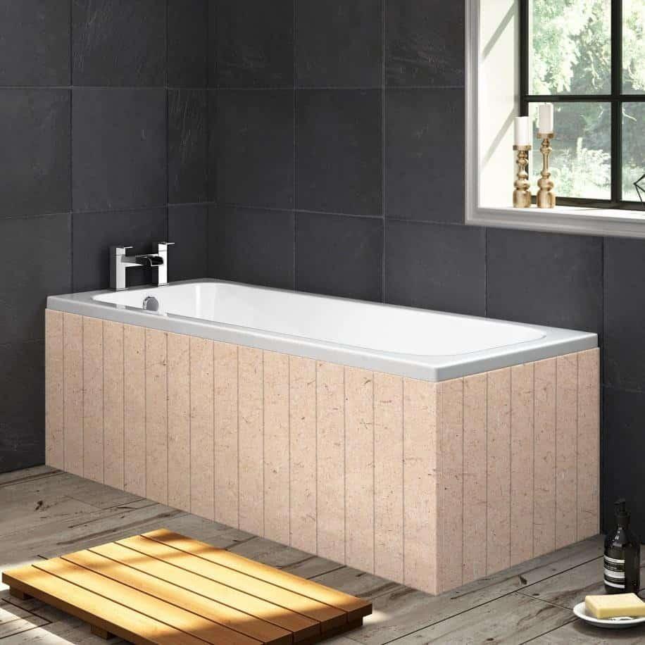 paintable mdf 1 piece bath panel