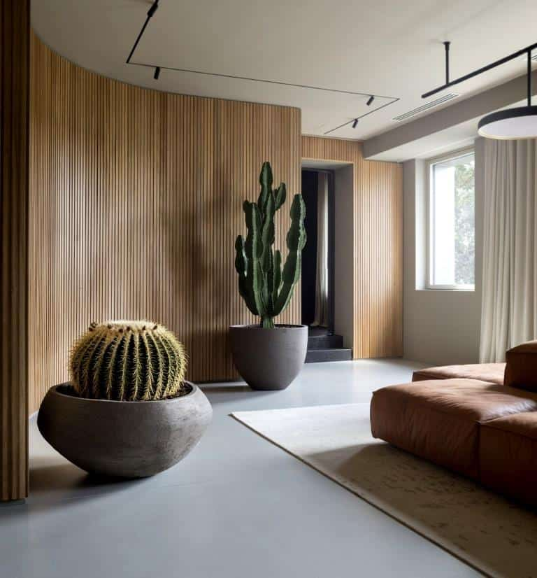 plywood wall design for living room