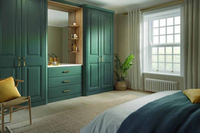 green wardrobe design