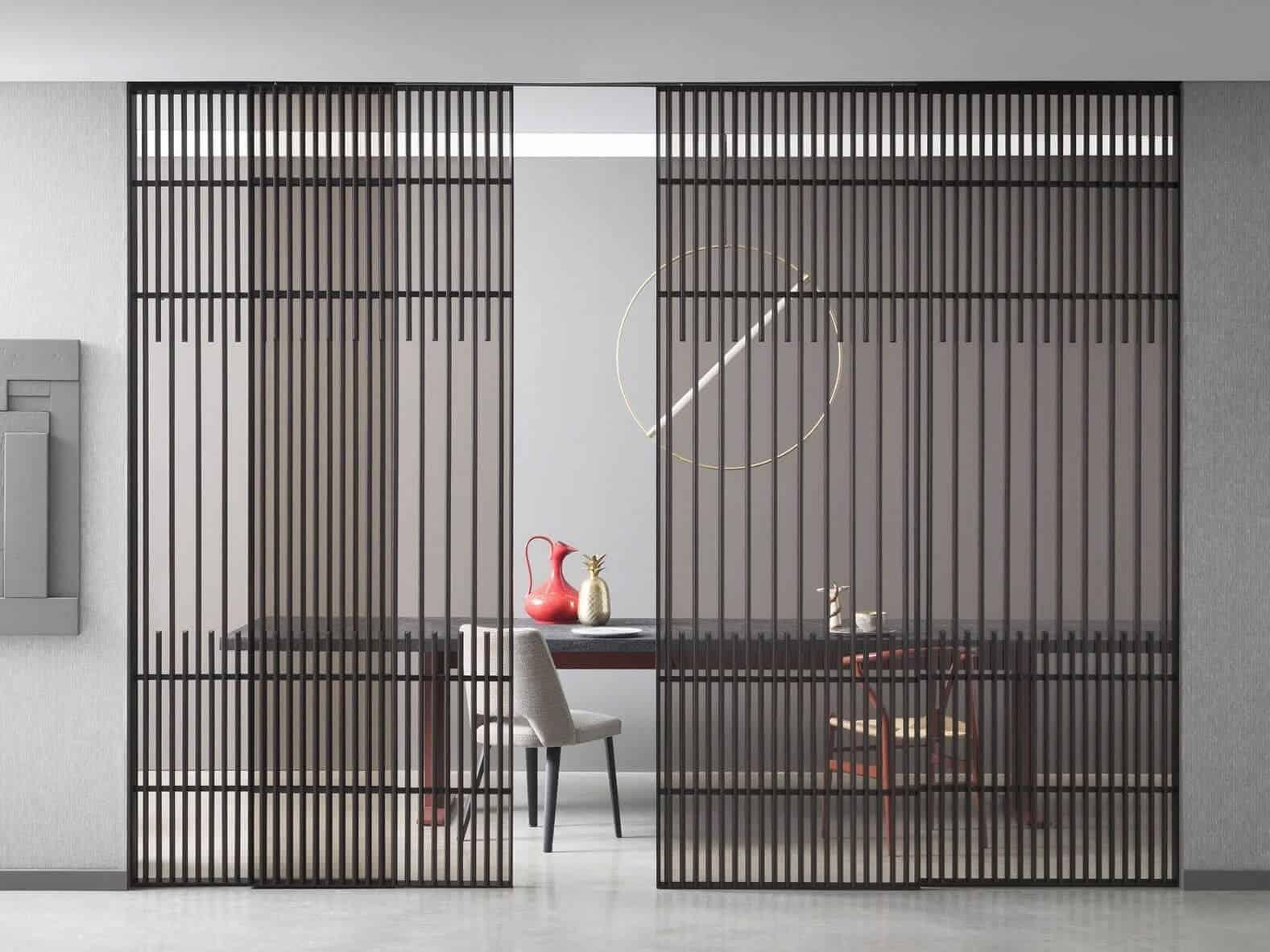 A modern yet simplistic steel door