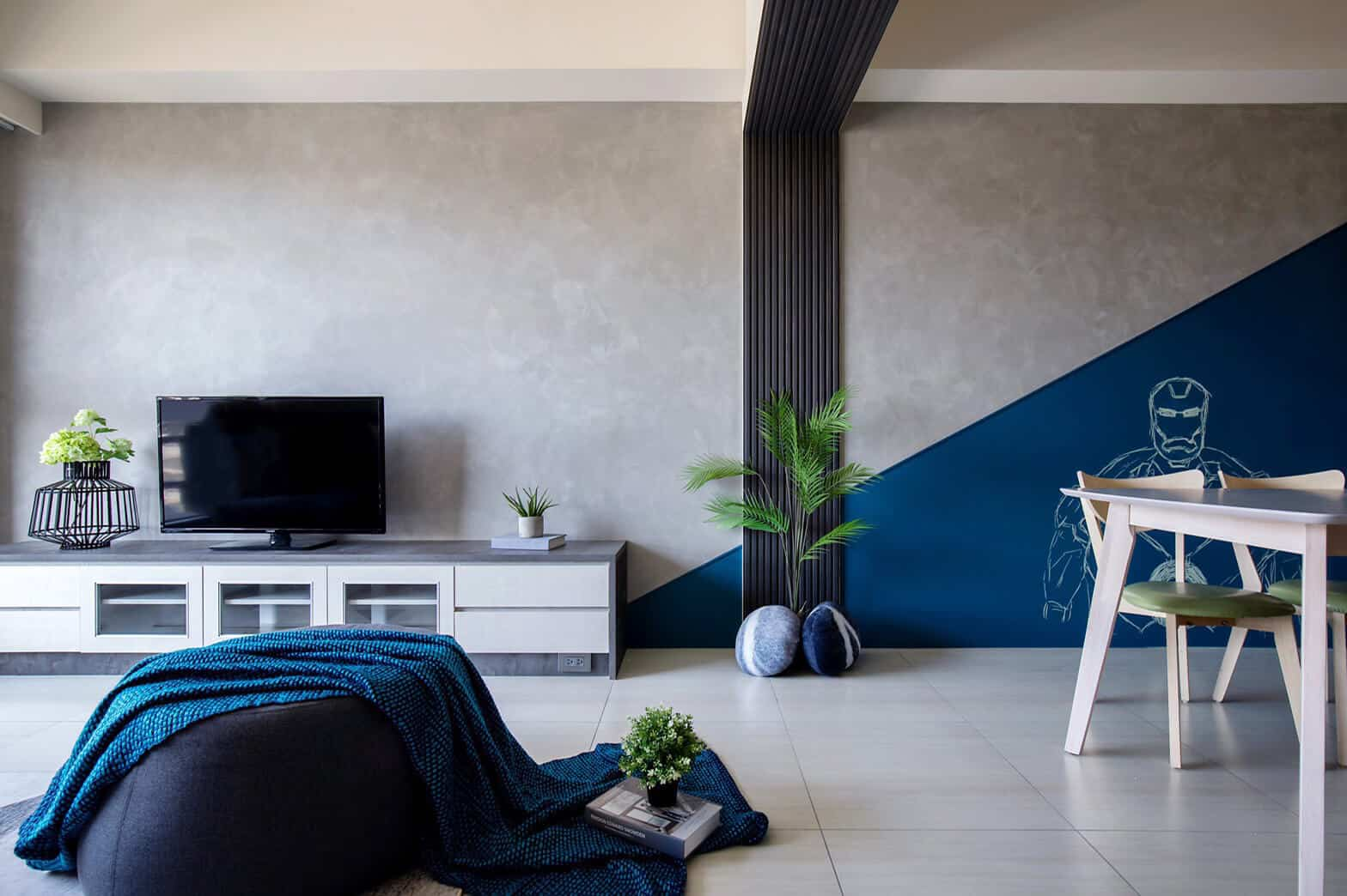 wall paint design texture in grey color