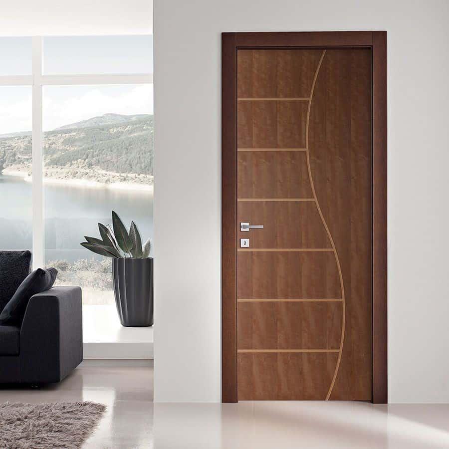 brown wpc door design