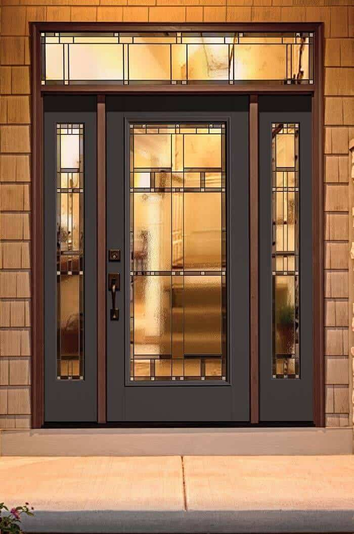 black door designs with glass panes and sidelights