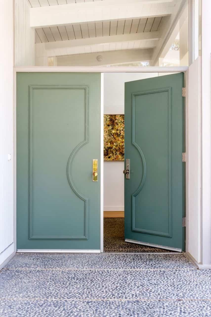 pastel green room door designs