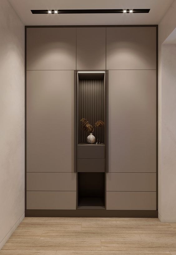 laminate wardrobes with centre open space