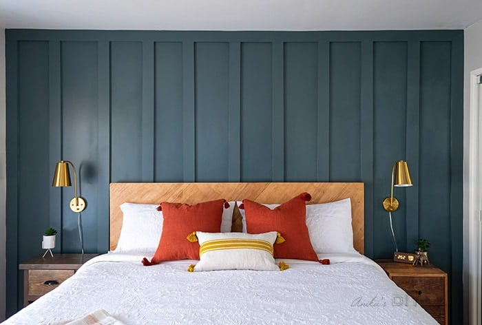 MDF board panelling on wall