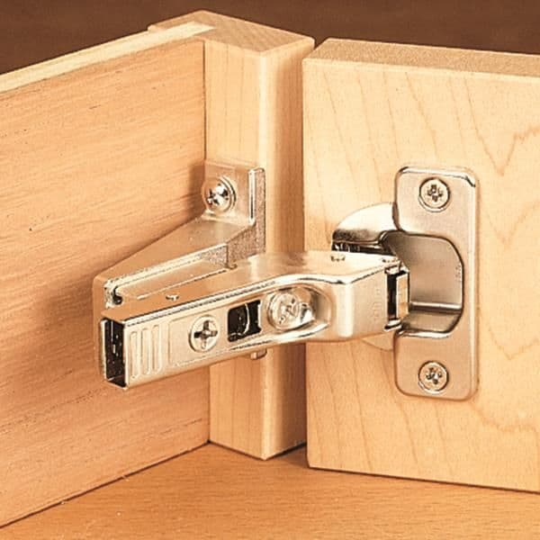 Clip on hinges for wardrobe interior design with smooth opening of doors and drawer systems