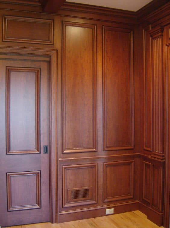 traditional look wooden wardrobes with efficient drawer system inside