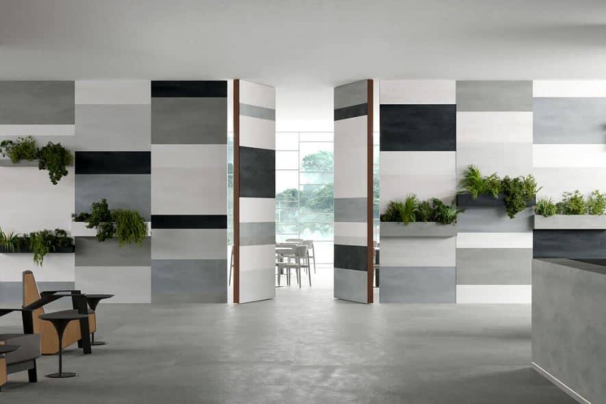 pocket door design in white and grey color