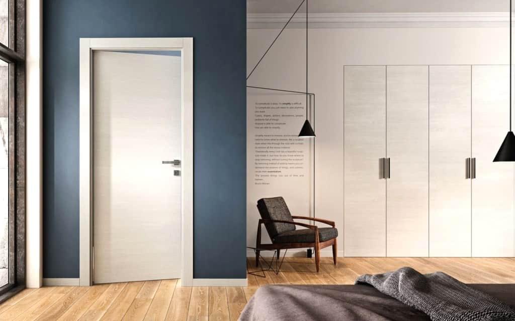 simple yet unique white door